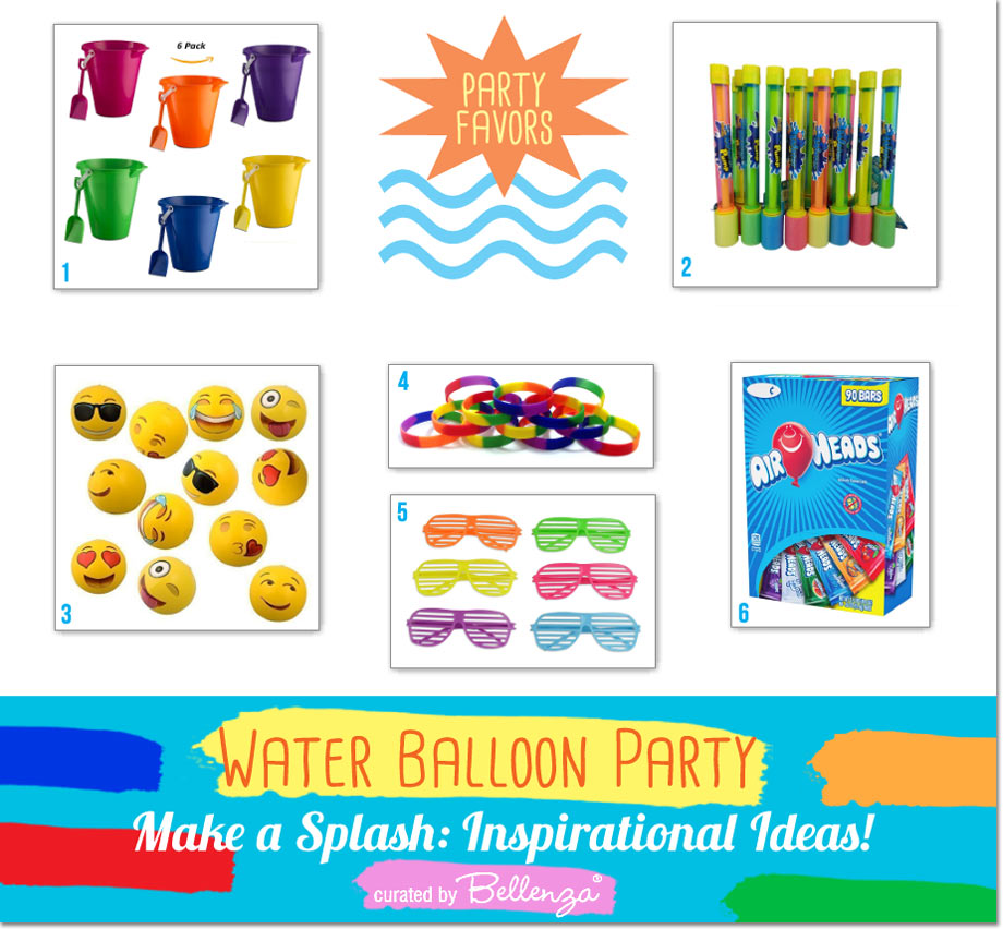 Party Favor Buckets and Fillings Ideas for a Water Balloon Party