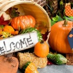 Fall harvest welcome display . Photo by Ganz.