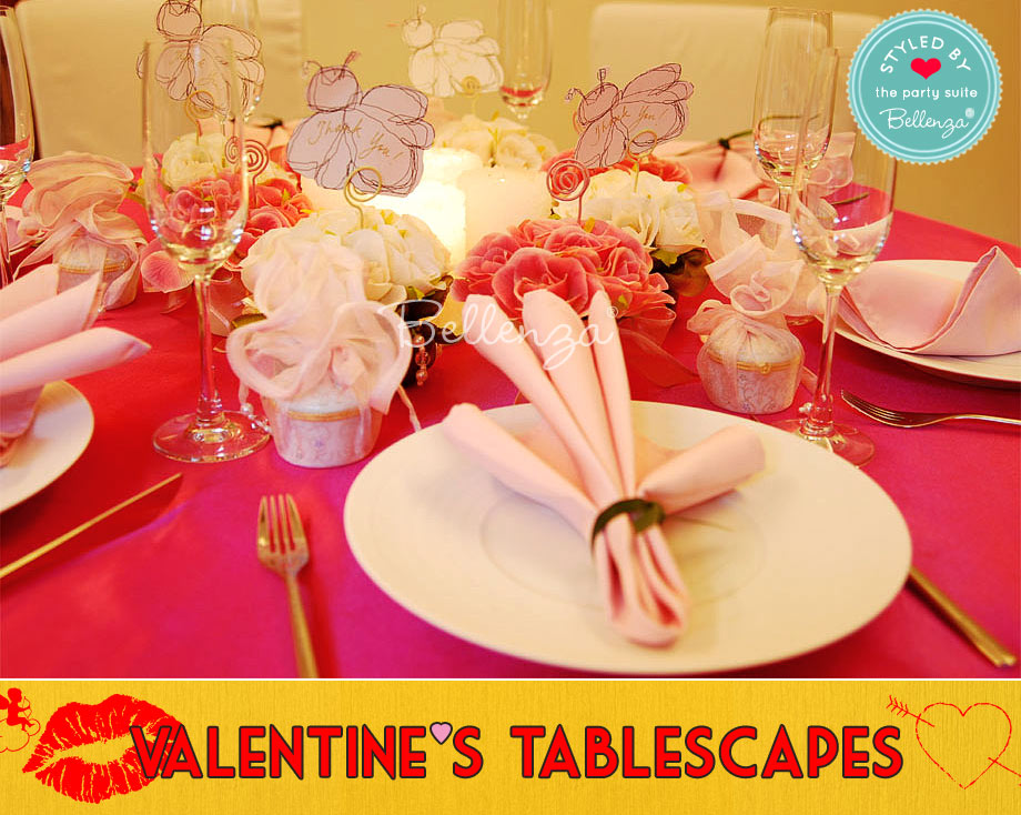 Whimsical garden Valentine's tablescape