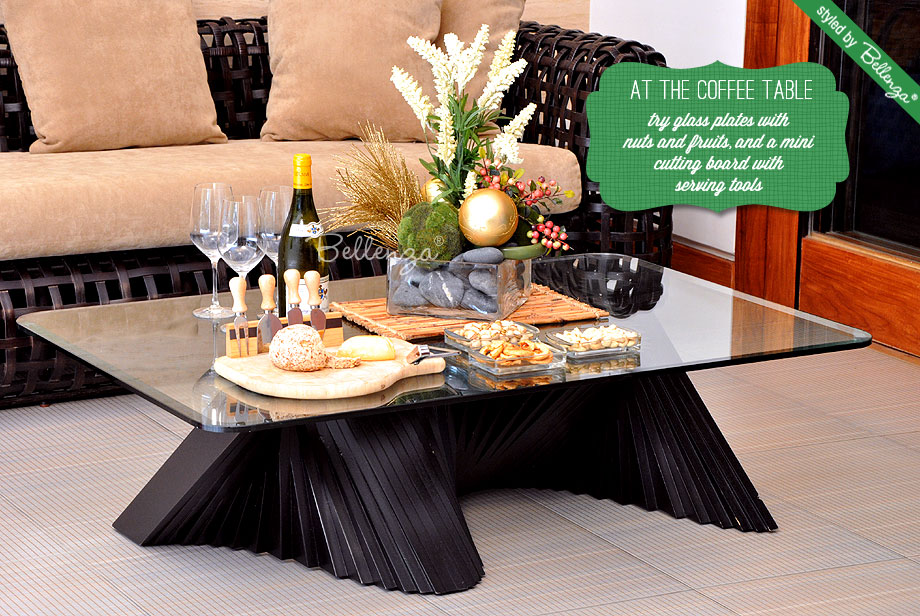 Wine and cheese coffee table party by Bellenza.