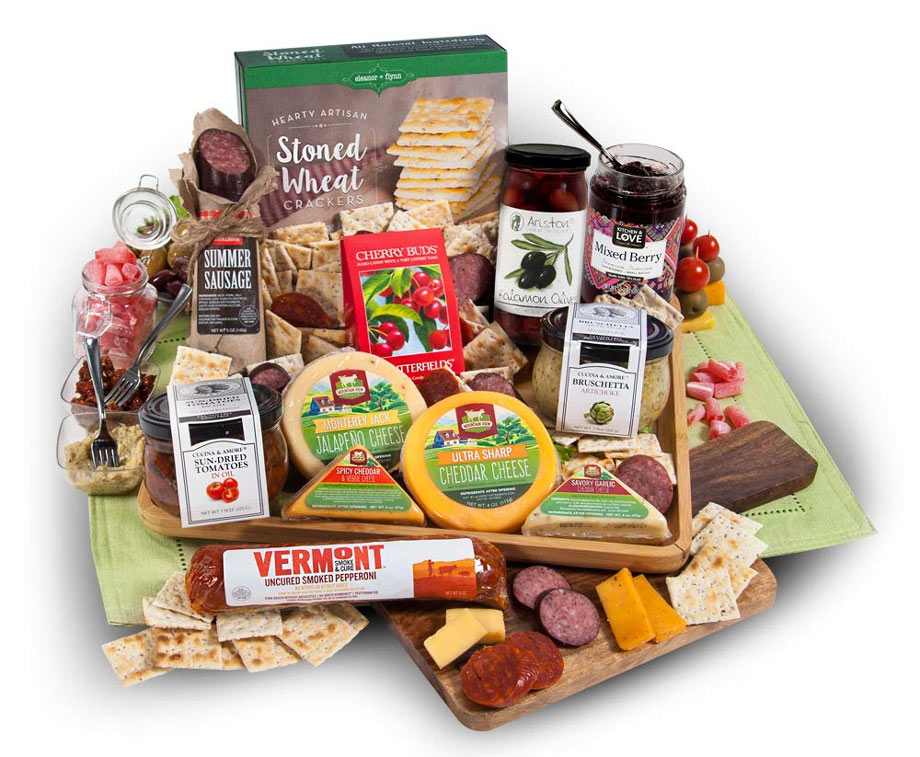 Artisan Meat & Cheese Platter via Amazon