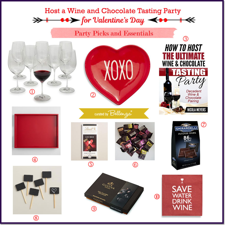 alentine's Day Wine and Chocolate Tasting Party Essentials // Curated by Bellenza.