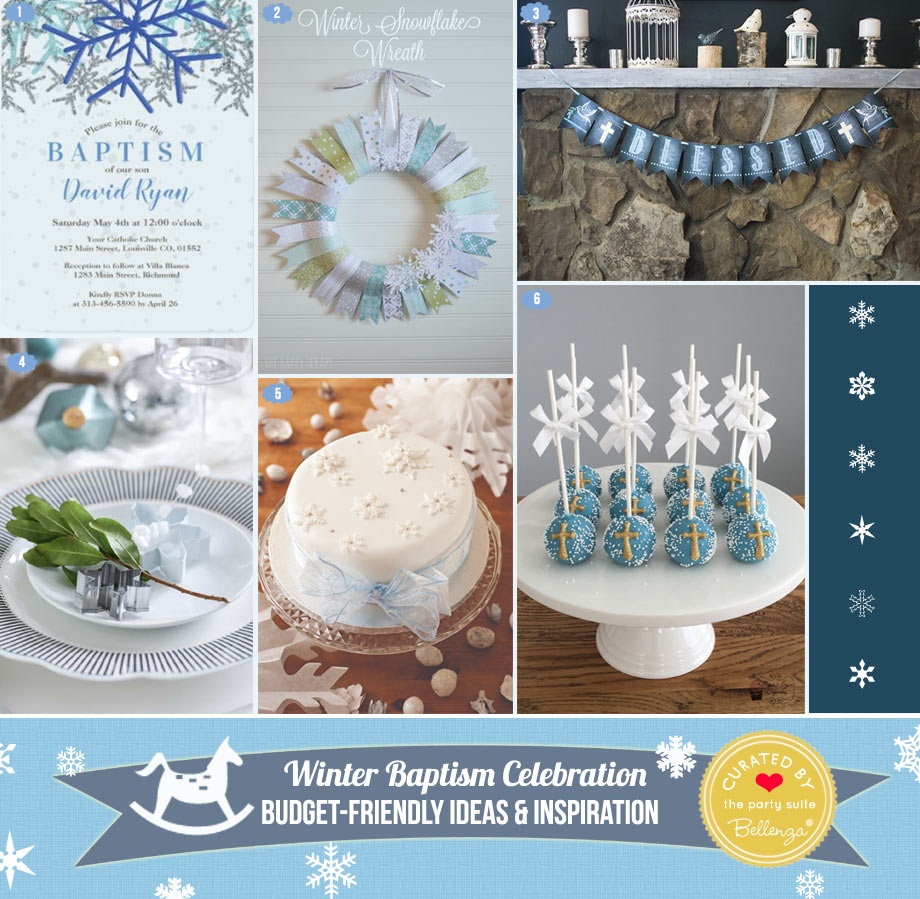 Snowy Decor & Desserts Ideas for a Baptism Celebration