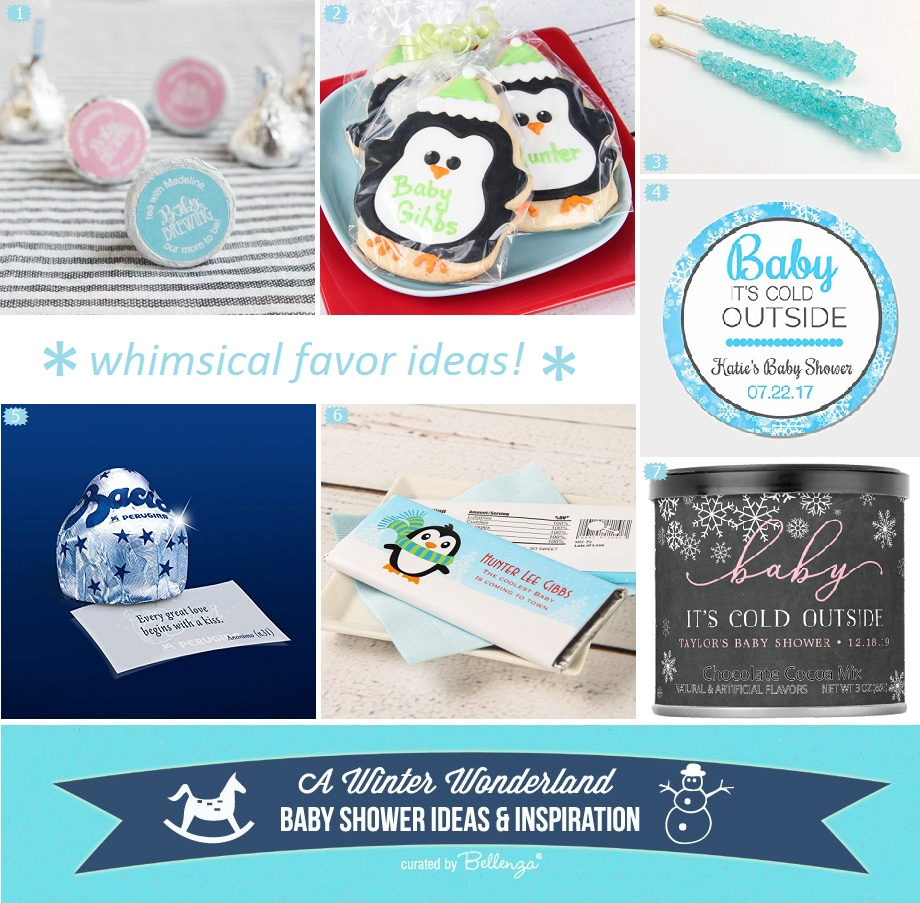 Fun Winter Wonderland Baby Shower Favors