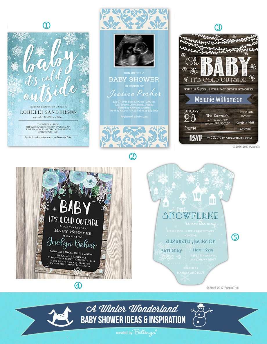 Winter Wonderland Baby Shower Invitations