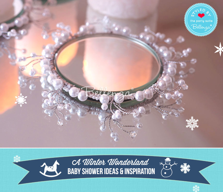 Winter Wonderland Centerpieces Using Candles and Mirrors