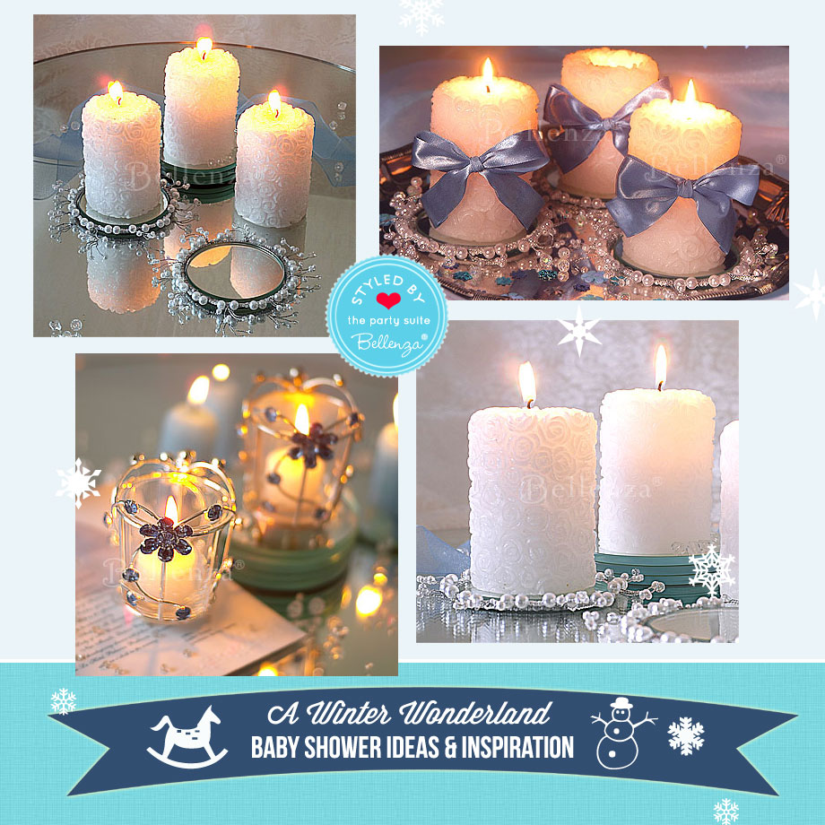 Winter Wonderland Centerpieces Using Candles