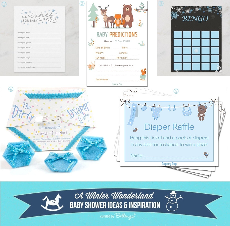 Winter Wonderland Baby Shower Games and Activities