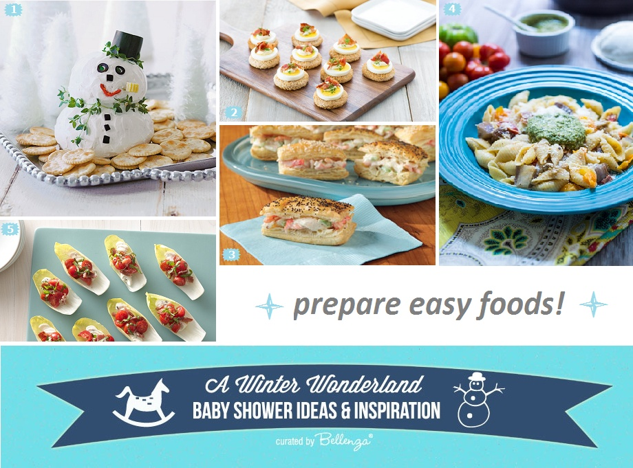 Winter Wonderland Baby Shower Food