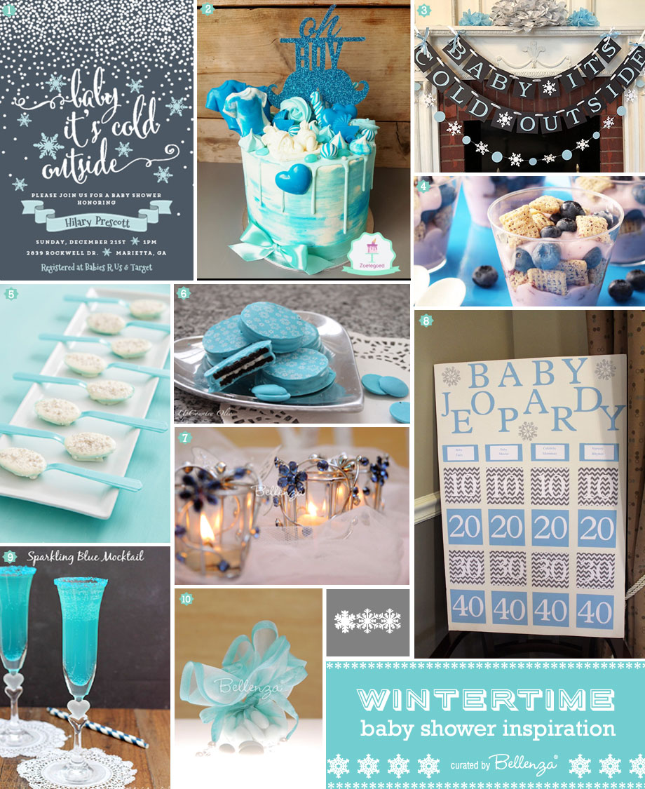 Styling Inspiration for a Winter Blue Baby Shower!