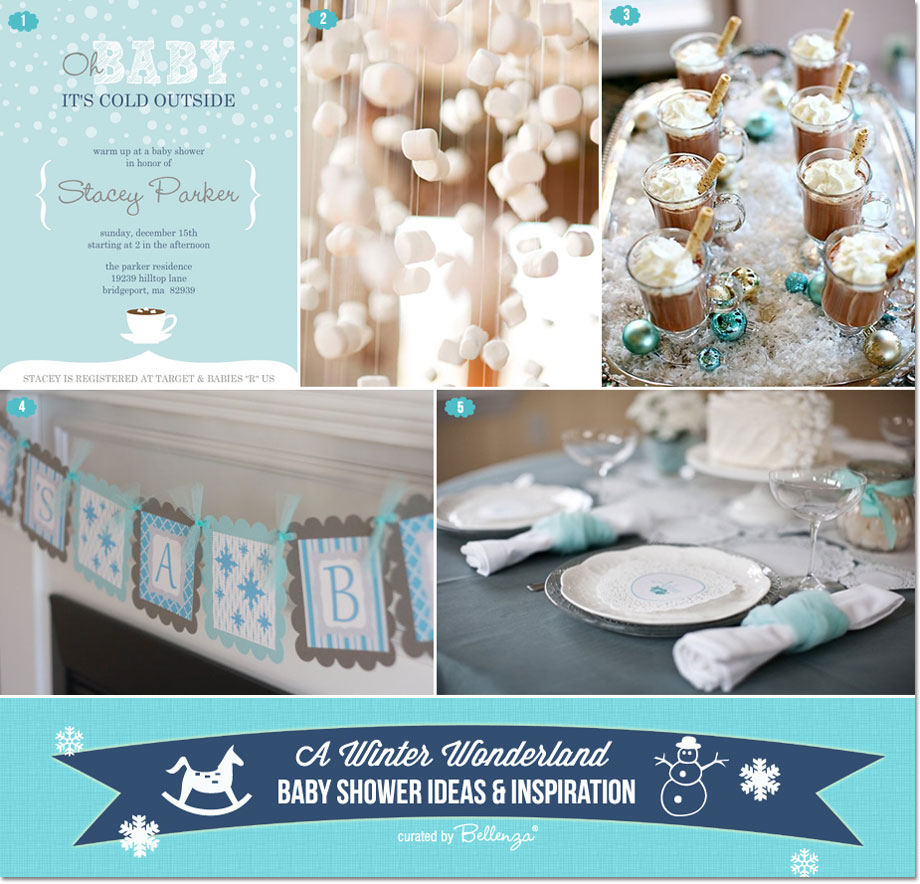 Winter wonderland baby shower DIY ideas for decorations