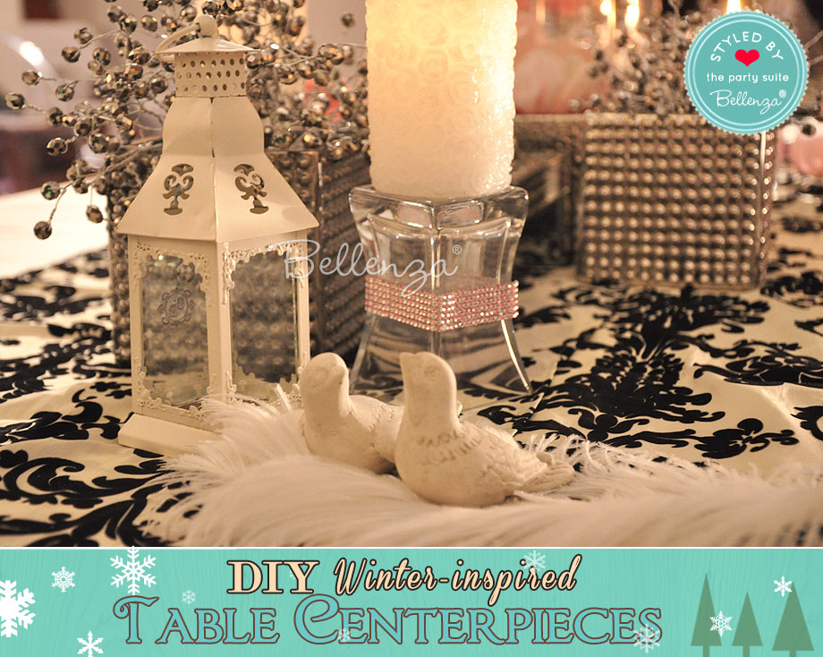 Winter romance centerpiece