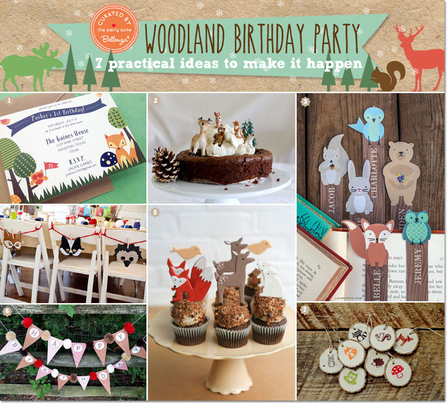 Winter woodland birthday theme