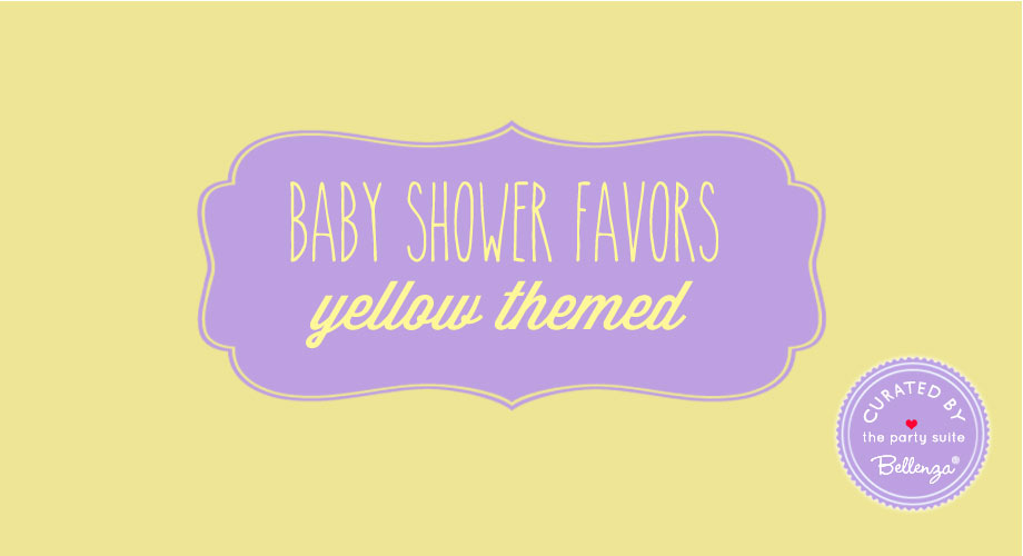 Yellow themed baby shower favors for spring