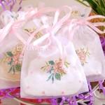 Fiore Bella Embroidered Rose Organza Bag (set of 5)