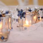 Nina Kirei Blue Jeweled Votive (set of 4)