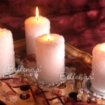 Erzella Candle Ring with Pearls and Coaster (set of 4)