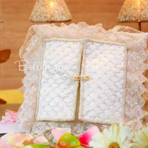 Elisadora Handmade Ivory Lace Ring Pillows