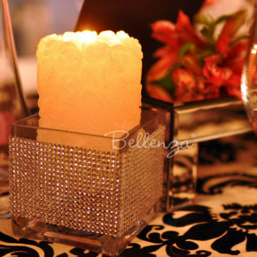 Zabenya White Rose Embossed Candles (set of 4)