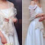 Lúlucella Embroidered Ivory Wedding Shawls