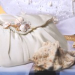 Estrellene Ivory Wristlet with Shell Brooch