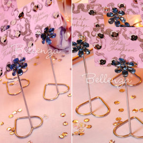 Soseya Jeweled Place Card Holders (set of 6)
