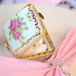 Emélie Footed Porcelain Favor Box (set of 6)