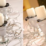 Zabenya White Rose Embossed Candles (set of 4)