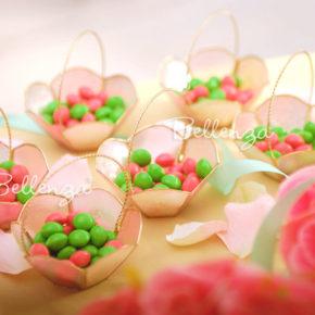 Soebelle Capiz Wedding Favor Basket (set of 4)