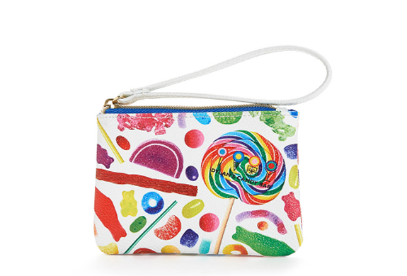 Candy Bar Spill Wristlet with Zip-top Closure