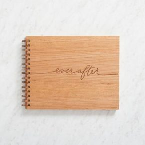"Wooden Wedding Guestbook ""Ever After"""