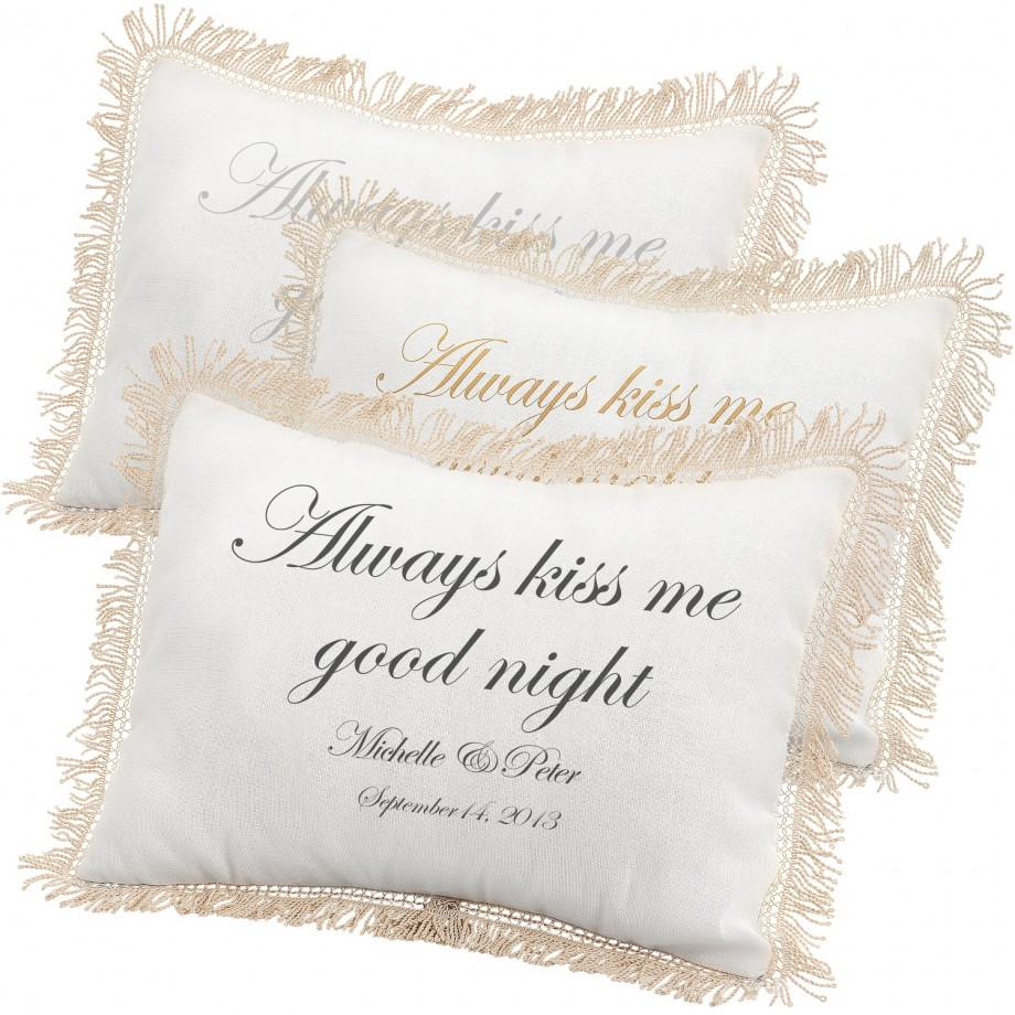 Personalized pillows.