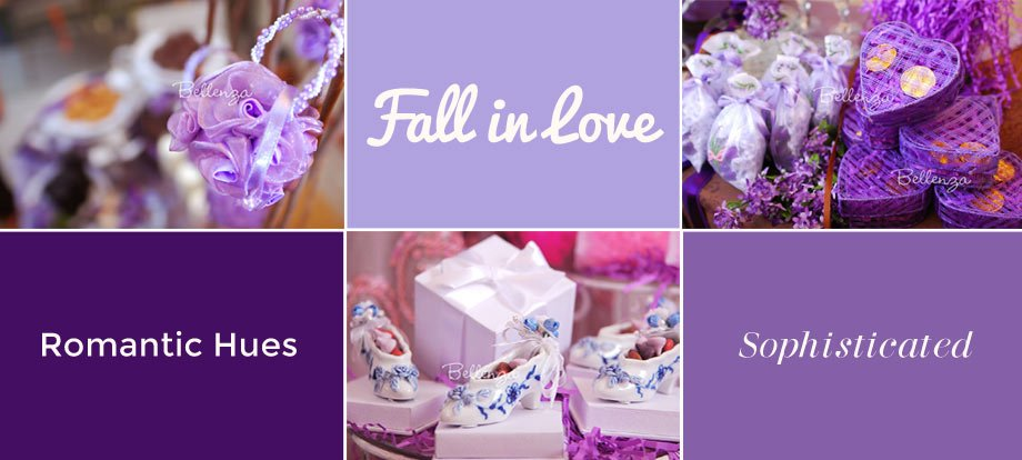 Infuse the Luxuriousness of Purple with Purple Favor Boxes and Sachet Bags.
