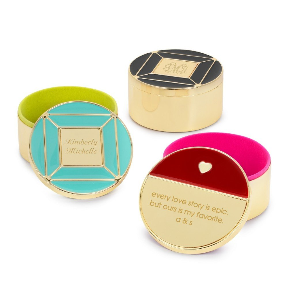 Enamel and Gold Keepsake Jewelry Boxes