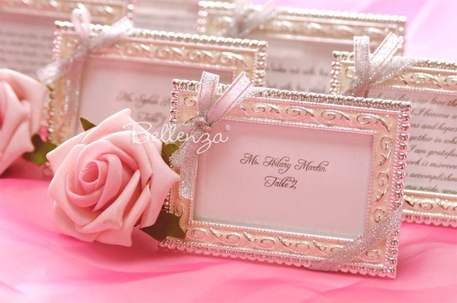 Ladies luncheon picture frame favors