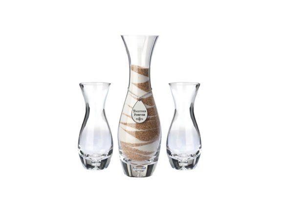 "Unity Vases with ""Together Forever"" Tag"