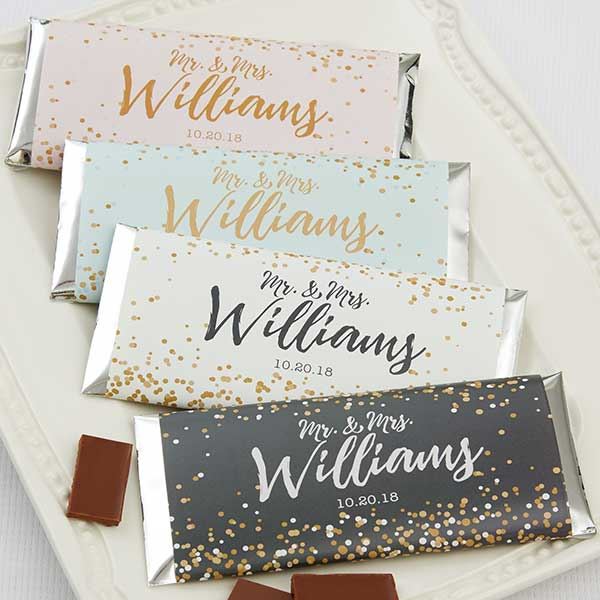 Chocolate Bar Wrappers with Sparkling Love