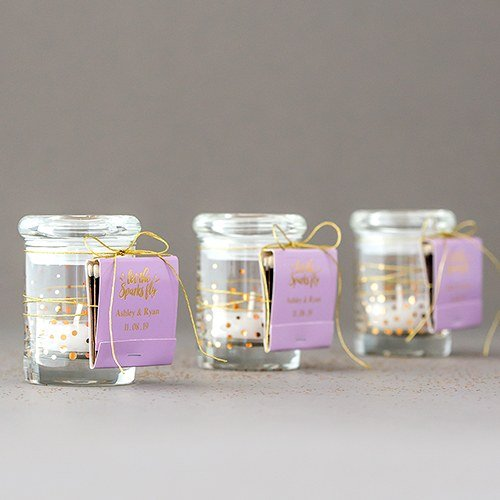 Mini Confetti (Gold) Glass Jars