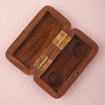 Wooden Ring Box with Garland Motif