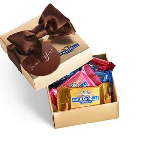 Chocolate Squares in a Favor Box