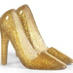 Glitter Phone Heels Stand in Gold