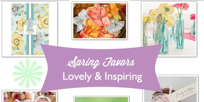 Thank your guests with lovely, inspired favors that evoke the joy and beauty of Spring.