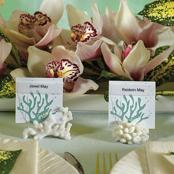 Coral Escort Card Holders (Set of 8)