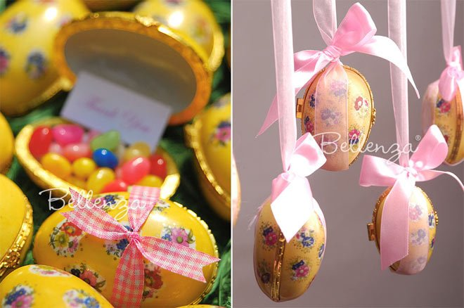 Victorian Themed Birthday Party Favors - Porcelain Egg Boxes