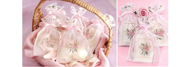 Mini Favor Bags for Rose Petals and Picture frames