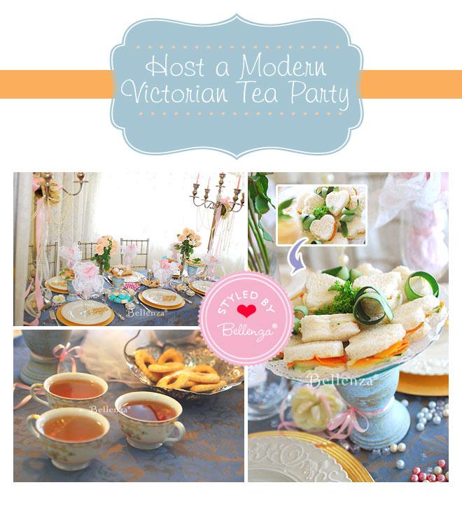 Modern Victorian tea birthday