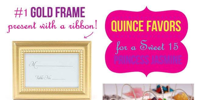 "Glam Favor Ideas for a ""Princess Jasmine"" Quinceañera"