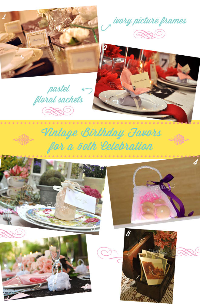 60th Vintage Birthday Party Favor Ideas