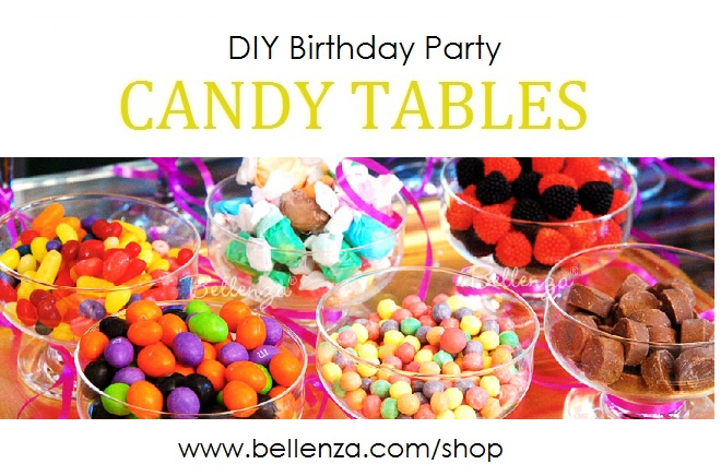 DIY Birthday Party Candy Tables for Ladies