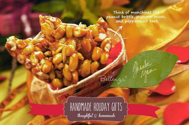 Peanut candy bark in favor box